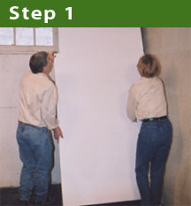 Step 1: Start from the corner
