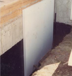 Insulating exterior basement walls using plastispan hd - Basement exterior wall insulation ...