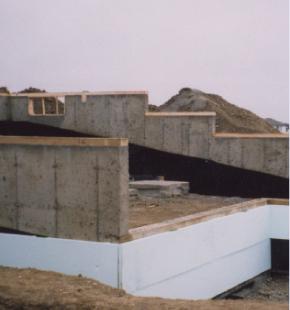 Insulating exterior basement walls using plastispan hd - Exterior basement wall insulation ...