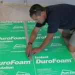 DuroFoam Insulation for basement floors