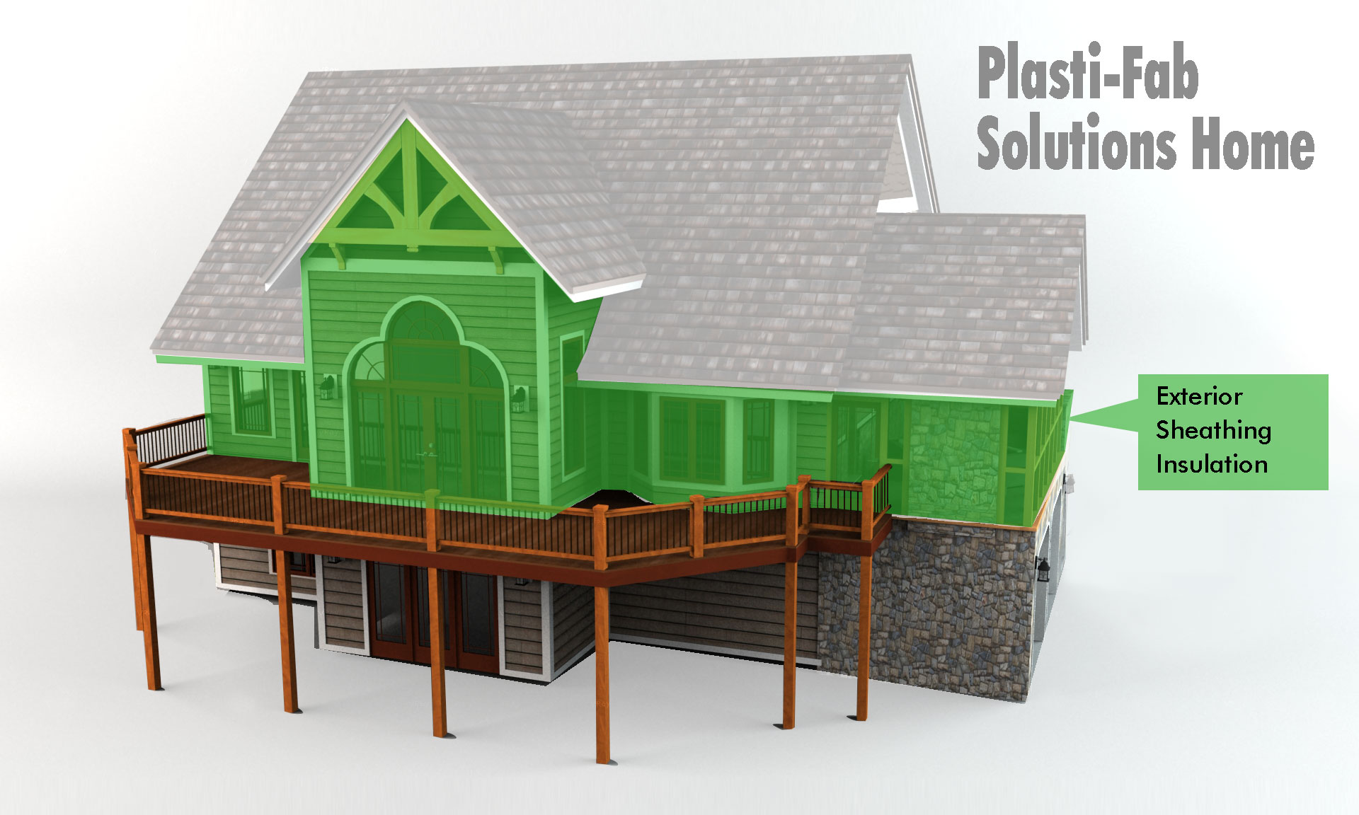 Plasti fab solutions home exterior sheathing insulation for Exterior wall sheeting