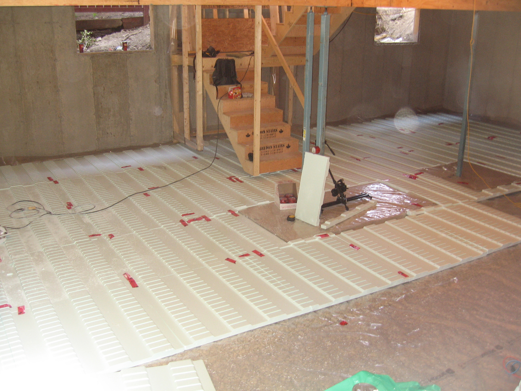 Radiant Floor Project With PlastiSpan Hydronic Insulation