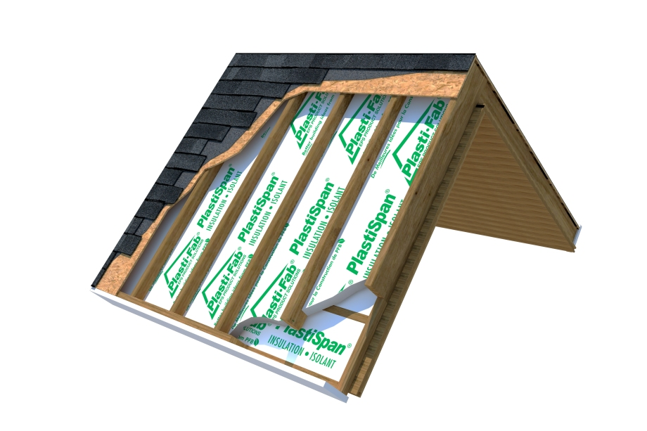 PlastiSpan Insulation for Cathedral Ceilings