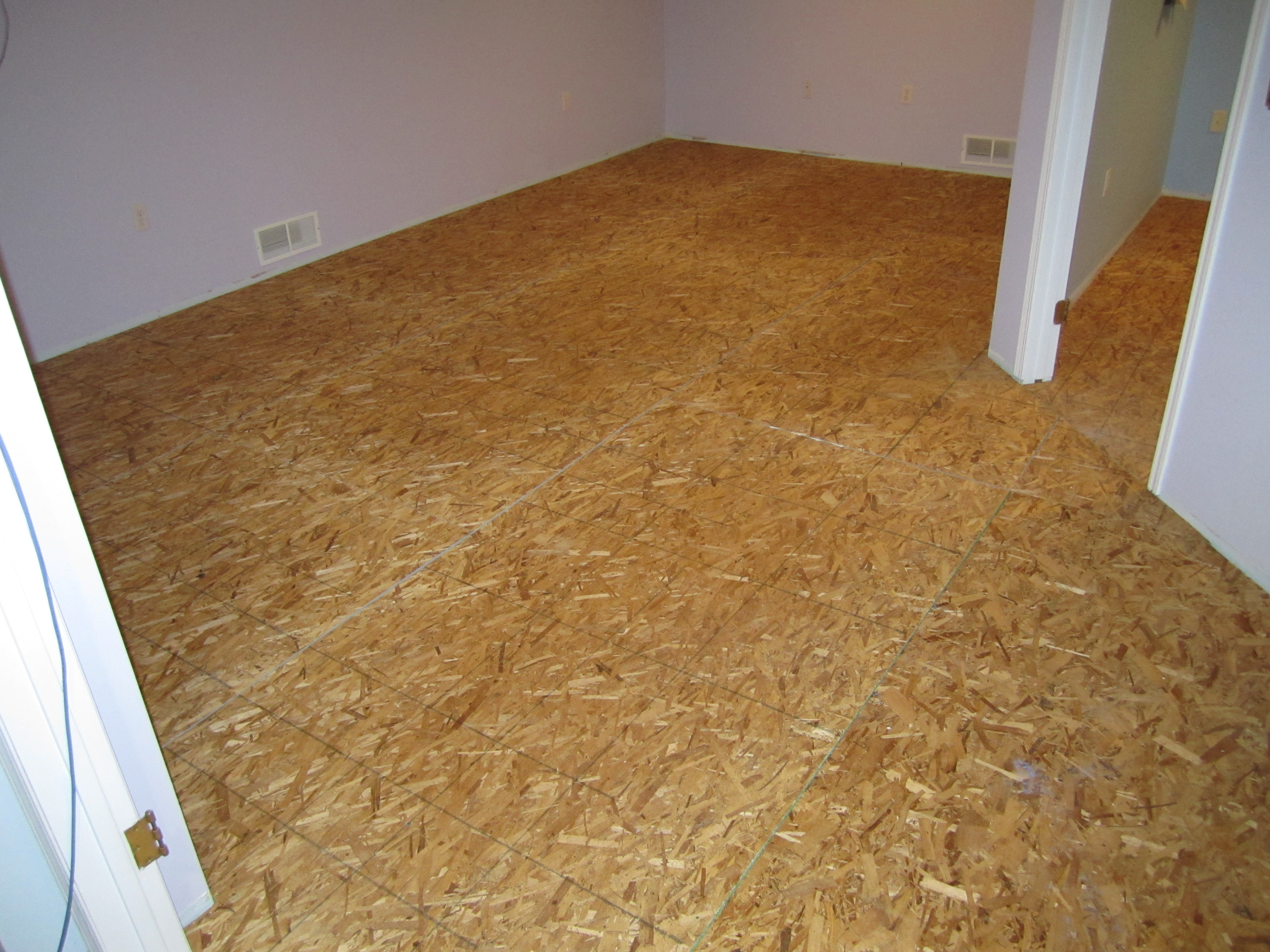 Photo tutorial insulating basement floor with plastispan for Osb t g