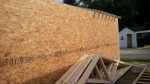 A long panel wall went up all at once, since it is one, long, insulated wall without any breaks.