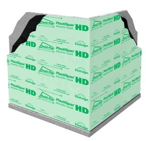 Plastispan exterior foundation insulation for commercial for Foundation blanket insulation
