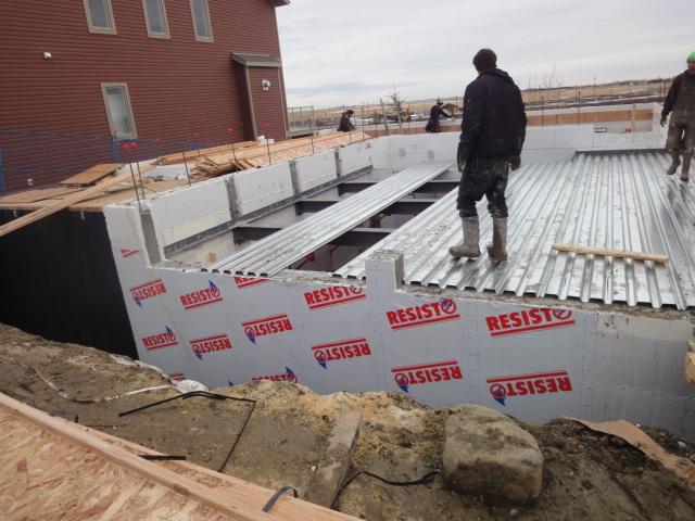 The doren home suspended garage slab plasti fab for Garage slabs
