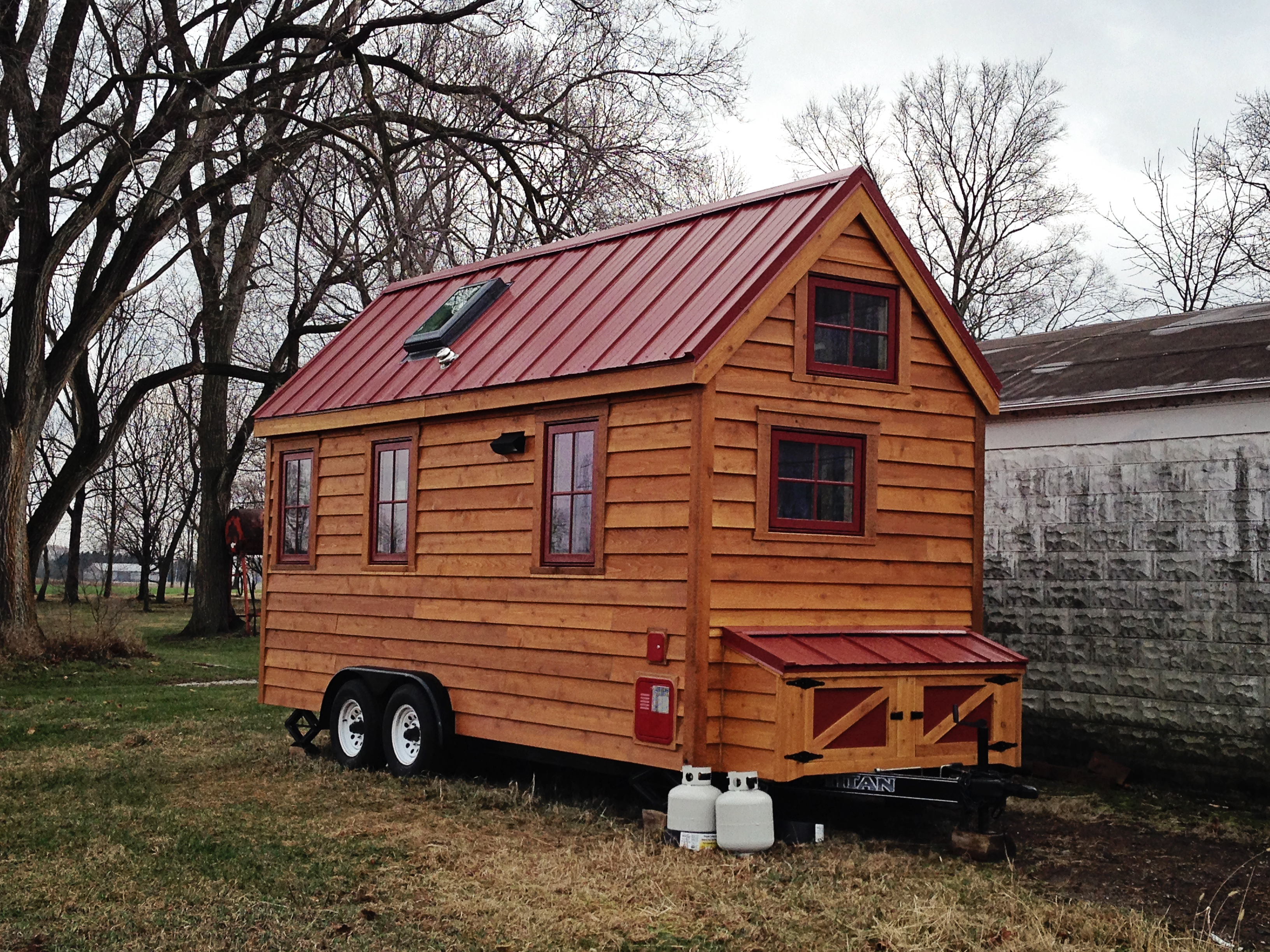 From trailer to tiny house in an afternoon the sip for Sip home packages