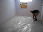 2- Install the Moisture Barrier