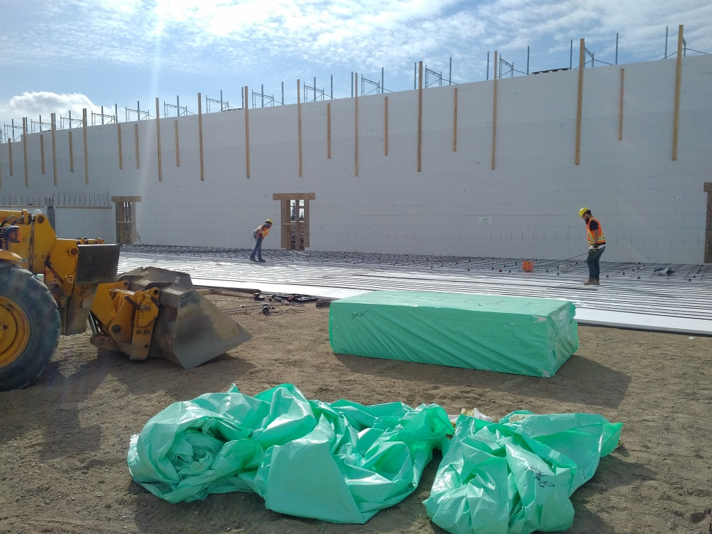 Under slab insulation and Advantage ICF Block walls provide the perfect thermal envelope for this food storage warehouse